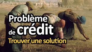 Crédit et problème