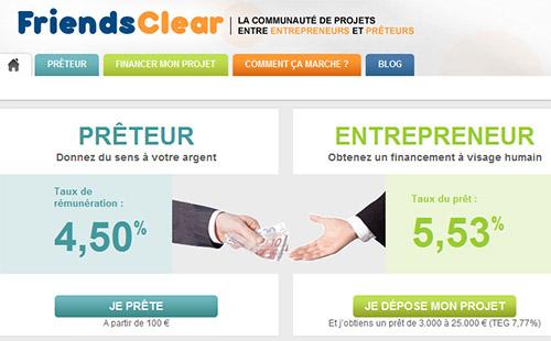FriendsClear, site de crédits entre amis