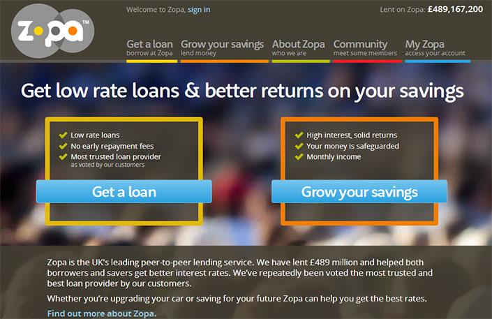 Zopa est un site britannique de prêt entre particuliers