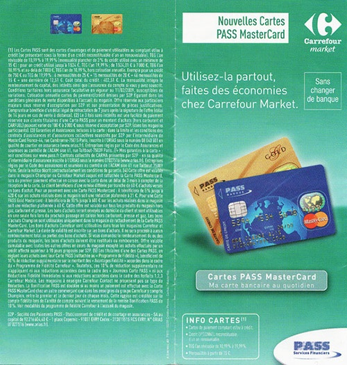 Conditions légales de la carte Pass de Carrefour : qui va lire ça?
