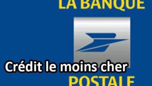 La Banque Postale propose des crédits très compétitifs.