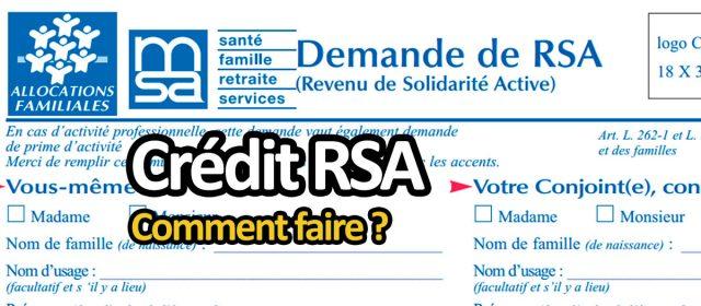 Crédit RSA : prêt pour bénéficiaire RSA et minima sociaux