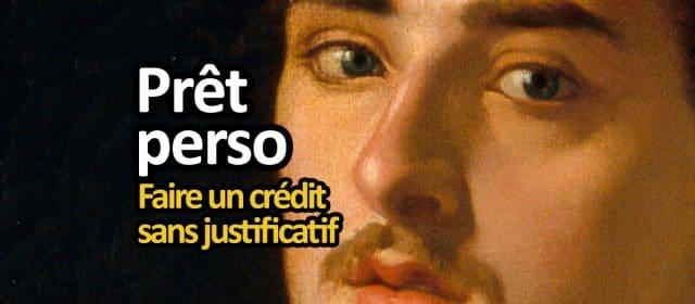 prêt personnel, crédit sans justification d'achat