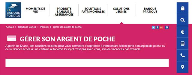 site web de La Banque Postale