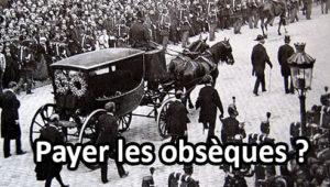 Les obsèques sont bien souvent une dépense considérable.