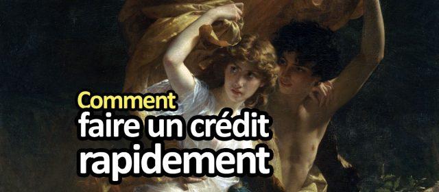 Comment faire un crédit rapide : demande urgente