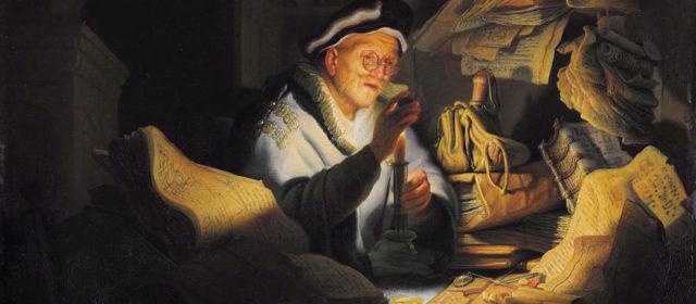 La parabole de l'homme riche. Tableau de Rembrandt.