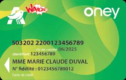 Carte Waaoh ! Oney
